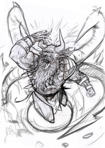 demonio boceto